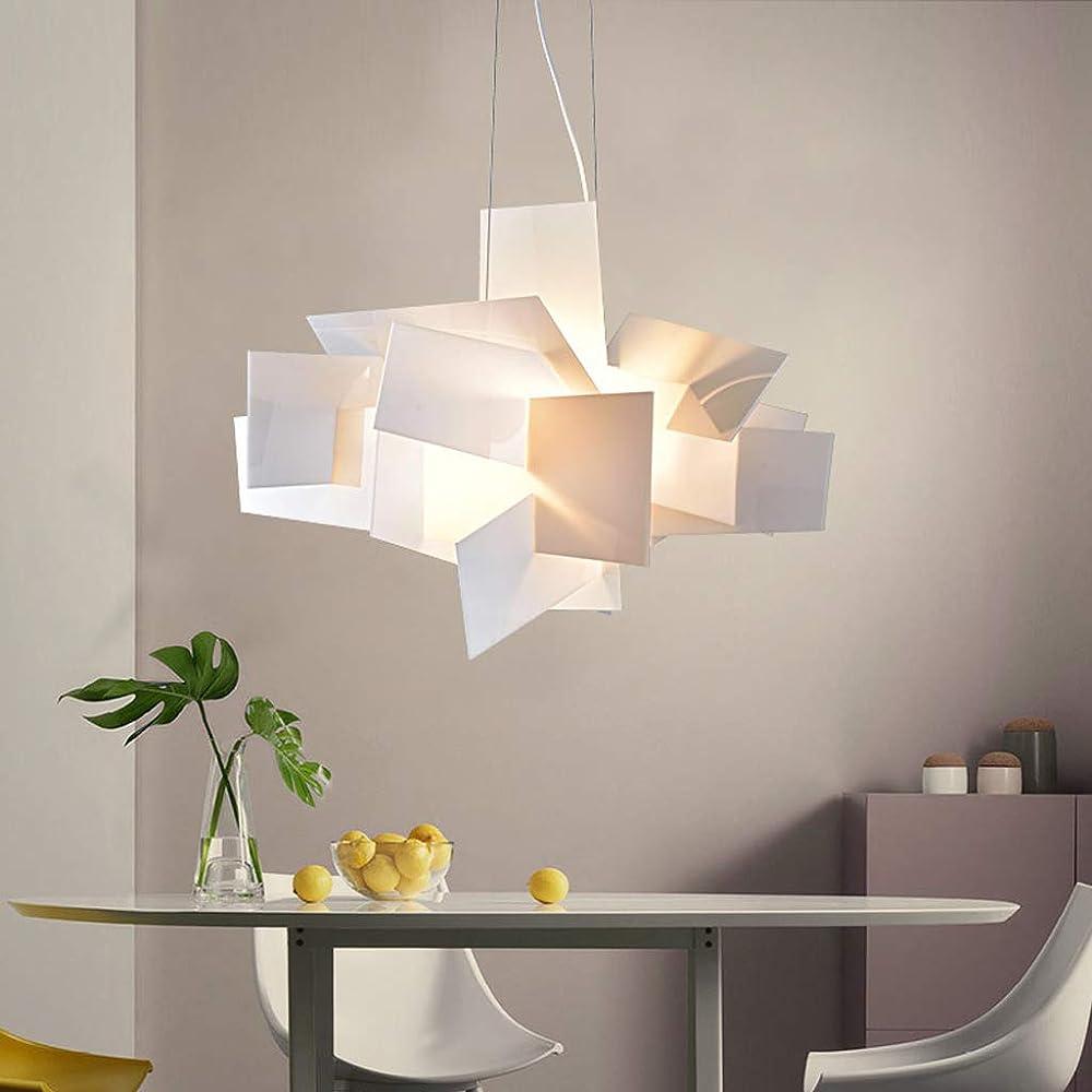 Enxing,e27 lampadario creativo,lampada a sospensione in acrilico 874-533-549