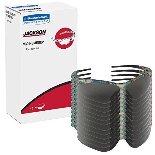 12 Pack Jackson Safety 3020707 V30 Nemesis Safety Glasses Camo Frame / Smoke Anti-Fog Lens(22609)