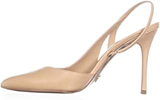 Michael Kors Womens Eliza Leather Pointed Toe Slingback Classic Pumps