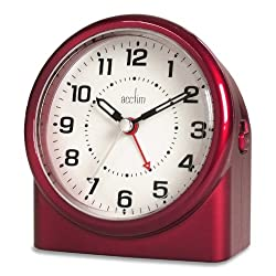 Acctim 14284 Central Alarm Clock, Red