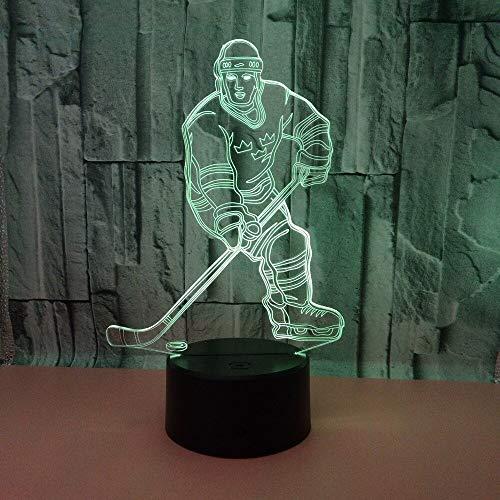 Jiushixw 3D acryl nachtlampje met afstandsbediening van kleur veranderende tafellamp bol tafellamp kunst aquarium gevormd nachtlampje fantoom RGB nachtlampje tafellamp decoratie vakantie geschenk sfeervol