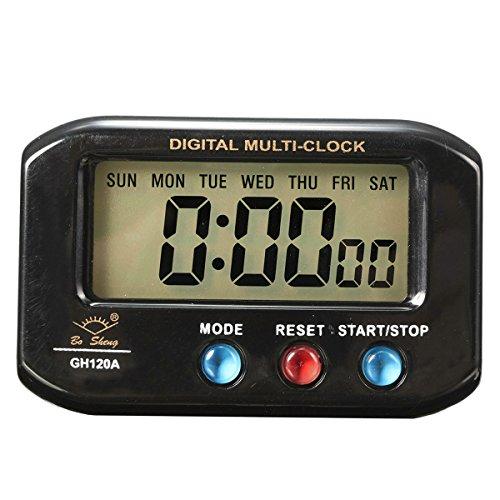 EsportsMJJ LCD Digitale Tijd Datum Alarm Klok Met Snooze Nacht Licht Functie