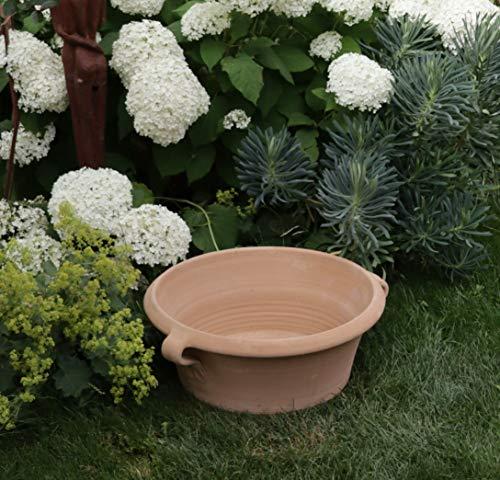 Céramique crète | Bol méditerranéen en terre cuite | 50 cm | antigel et fait main | céramiques de haute qualité pour le jardin / terrasse, balcon