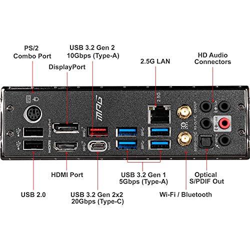 MSI MPG Z490 GAMING EDGE WIFI Scheda Madre Gaming (ATX, 10 Gen Intel Core, LGA 1200 Socket, DDR4, CF, Dual M.2 Slots, USB 3.2 Gen 2, Wi-Fi 6, DP/HDMI, Mystic Light RGB)