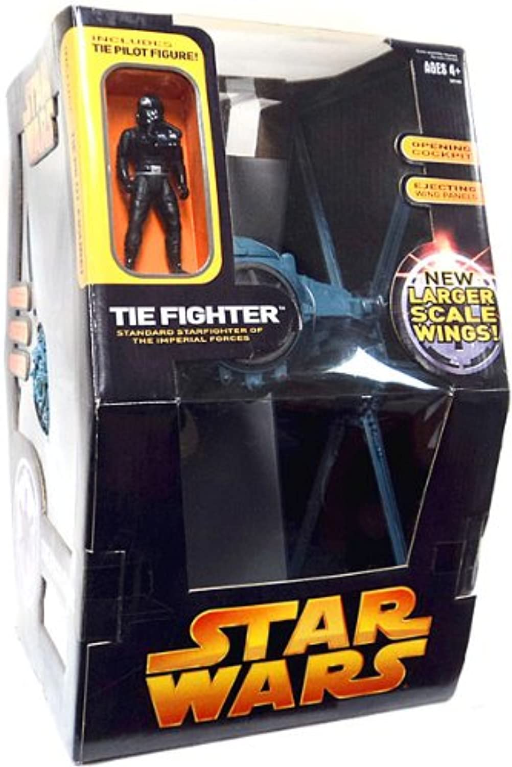 Hasbro Star Wars Tie Fighter With Larger Scale Wings And Tie Pilot