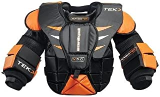 PowerTek Barikad V5.0 Ice Hockey Goalie Goal Chest Arm Pads, Junior Sizes
