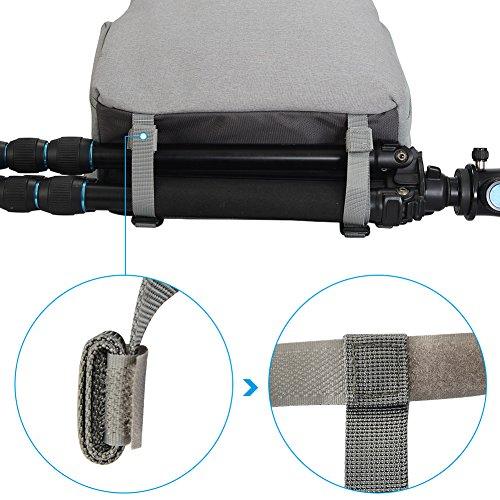 CADeN Kamerarucksack Fotorucksack Wasserabweisend Diebstahl Geschützter Travel Kamera Tasche Fall mit USB-Ladeanschluss für DSLR Canon Nikon Sony (M,Schwarz)