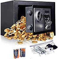 Anfan Digital Electronic Security Safe Box with Deadbolt Lock