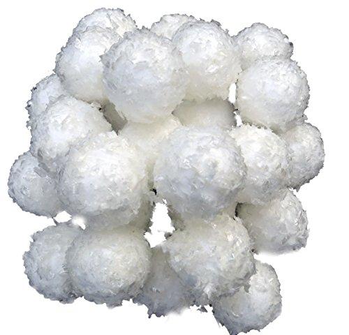 pemmiproducts Schneebälle 3 cm mit Schneeoptik, 1 Beutel a' 24 Stück, Gesamtmenge: 24 Stück, (EUR 0,25 je Stück), Winterdekoration, Schneeimitat