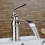 Grifo grifo cuadrado tipo cascada grifo de un solo orificio baño grifo de cocina grifo de lavabo