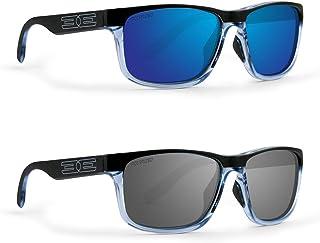 528ca87b060 2 Golf Sport Polarized Epoch Delta Sunglasses Crystal Blue Black Frame    Smoke Lens   Crystal