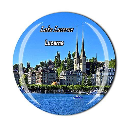 Time Traveler Go Lake Lucerne Suiza 3D imán para nevera regalo de recuerdo para el hogar cocina decoración etiqueta magnética