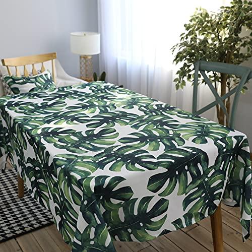 XXDD Tovaglia Monstera in Stile Nordico Tovaglia USA e Getta Impermeabile e Resistente all'olio Tavolo da Pranzo per la casa Tavolino Tovaglia A1 150x210 cm