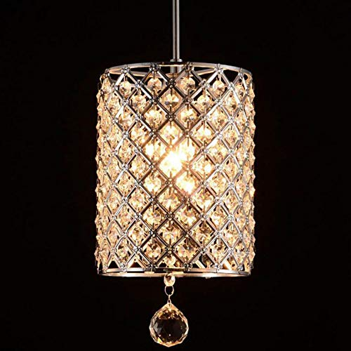 TEHWDE kroonluchter kristal klein, moderne plafondlampen kristal licht design LED hanglamp hanglamp voor E14 lampen voor woonkamer eetkamer restaurant kelder onderverdieping etc.