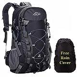 A AM SeaBlue Mochila de Senderismo Impermeable Mochilas de Marcha para Deportes y Aire Libre,Viajes Alpinismo Acampar Hiking Backpack con Funda de Lluvia