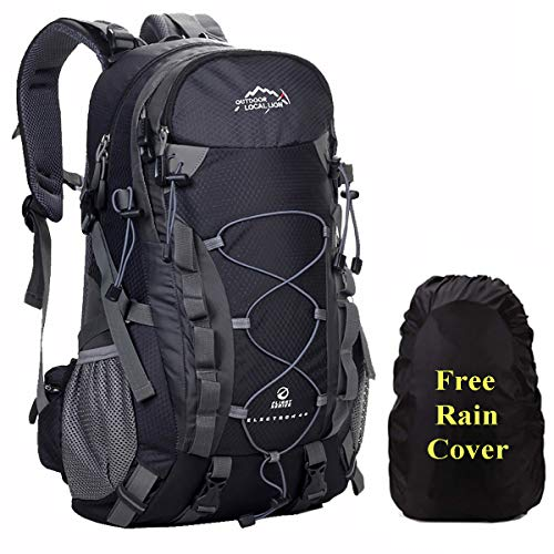 A AM SeaBlue 40L Trekking Rucksäcke Leicht Wanderrucksäcke Outdoor Sport Taschen für Travel Camping Tagesrucksack Daypack mit wasserdichte Regenschutz