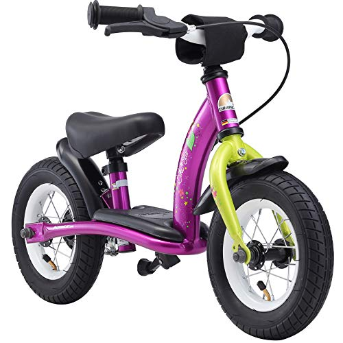 BIKESTAR Vélo Draisienne Enfants pour Garcons et Filles de 2 - 3 Ans | Vélo sans pédales évolutive 10 Pouces Classique | Berry & Blanc