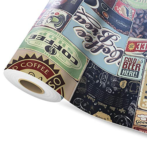 Moonlight   PVC CV Vinyl Bodenbelag   viele Längen & Motive & Größen (100 x 100 cm, Coffee Time)
