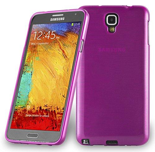 Cadorabo Coque pour Samsung Galaxy Note 3 Neo en Rose Vif - Housse Protection Souple en Silicone TPU avec Anti-Choc et Anti-Rayures - Ultra Slim Fin Gel Case Cover Bumper