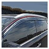QUXING Derivabrisas para Mitsubishi ASX 2013-2018 Visita De La Ventana Sun Rain Deflector Devolador Toldo Escudo De Ventilación Guardia Cubierta De Sombra Derivabrisas Deflectores