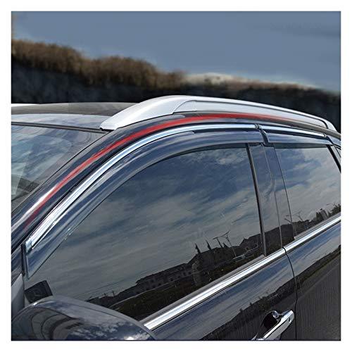 CGDD Windabweiser Für Mitsubishi ASX 2013-2018 Fenster Visier Sonnenregen Wind Deflektor Markise Schild Entlüftungsschutzschattenabdeckung Rauchabzug Schatten