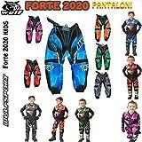 Pantaloni Bambini Tuta XS WULFSPORT Junior 1 pezzo Suit Bambino Quad Corsa Suit MX ATV Jersey 3-4 Anni Blu