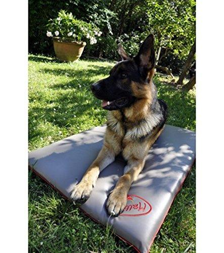 Kissen für Hundebett, große Hunde - Anti-Haar-Effekt, Desinfizierend, Geruchsneutral, Wasserfest, Anti-Flecken-Effekt - 110x70cm, Farbe grau beige mit sorgfältig ausgewählten Details.