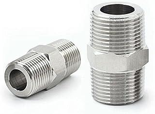 FSALFWUYIHDSF M8 M10 M12 M14 M16 M18 M20 M22 Filetage 304 en Acier Inoxydable Mamelon Hexagonal connecteur de raccord de T...