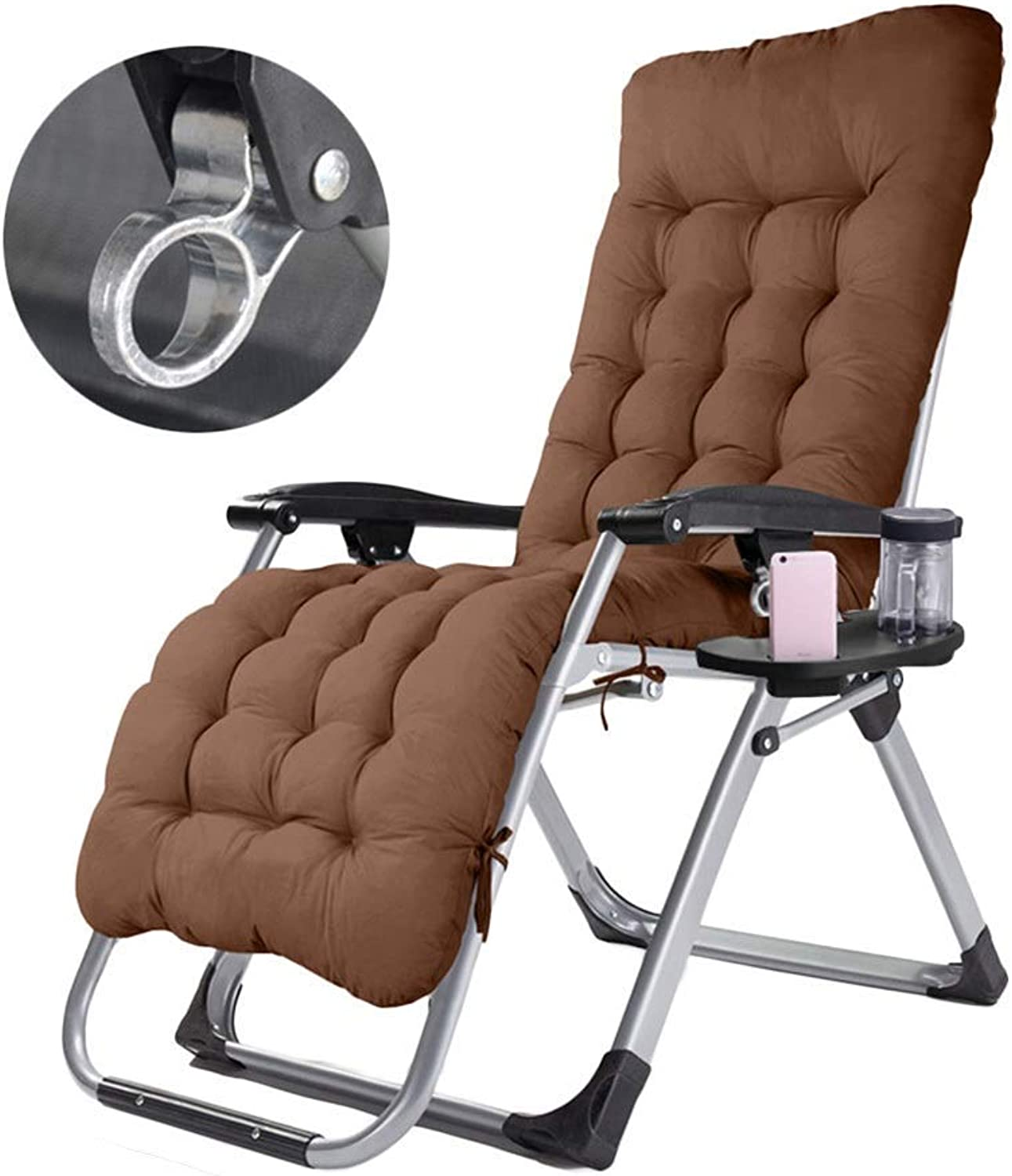Oversized Patio Chairs Reclining with Cushions for Heavy People, Zero Gravity Chair for Outdoor Camping Travel Portable Chairs, Support 200kg,A