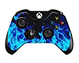 xbox controller stickers - SKINOWN Xbox One Controller Skin Blue Flame Blue Fire Sticker Vinly Decal Cover for Microsoft Xbox One DualShock Wireless Controller