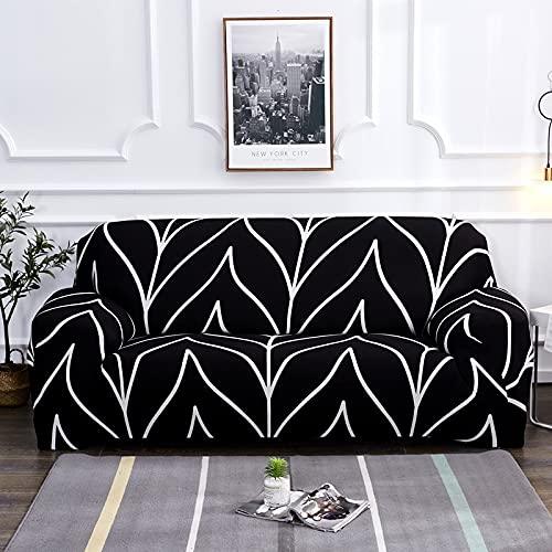 WXQY Funda de sofá elástica para Sala de Estar Funda de sofá Antideslizante Todo Incluido Funda de Toalla de sofá de Esquina en Forma de L elástica A20 2 plazas
