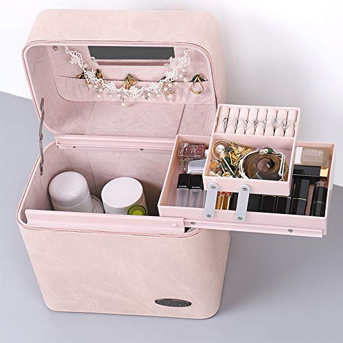 Multifunctionele opbergdoos, outdoor draagbare cosmetische tas, handige en compacte gereedschapskist (27X17x27 cm) roze