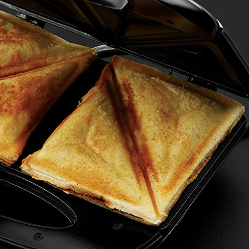 Russell Hobbs 4008496937660 RU-24540 3-in-1 Sandwich/Panini and Waffle Maker, 760 W, Black
