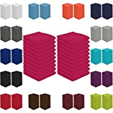 20er Pack Seiftücher Sparpreis in vielen Farben 30x30 cm 100% Baumwolle, Magenta
