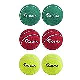 Kosma pelota de tenis pelota de Cricket - Pack de 6Pc | La práctica de Cricket...
