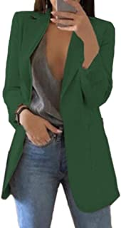 Women Open Front Long Sleeve Blazer Jacket Suit Loose Fit Work Blazer