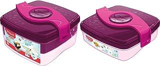 Maped Picnik Origins - Boîte à Déjeuner Repas Enfants - Rose - 1,4L & Picnik Origins - Boîte à Goûter Compacte pour Enfant...