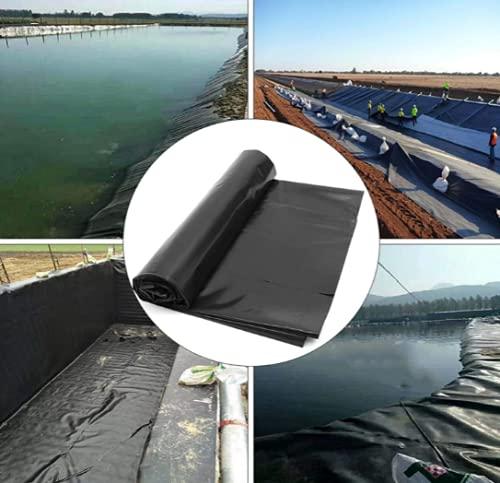 AzulLanse Bâche de Bassin, Grand Bassin à Poissons, piscines, Membrane renforcée pour l'aménagement paysager 3 m x 2 m,Épaisseur 0,12 mm