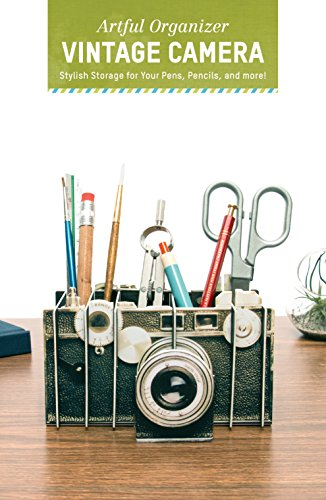 Artful Organizer: Vintage Camera: Stylish Storage for Your Pens, Pencils, and More! (Office Desk Organizer and Accessories, Office Supplies Desk Organizer, Cute Modern Desk Organizer)