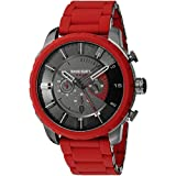 Diesel - DZ4384 - Advanced - Montre Homme - Cadran Gris - Bracelet Rouge