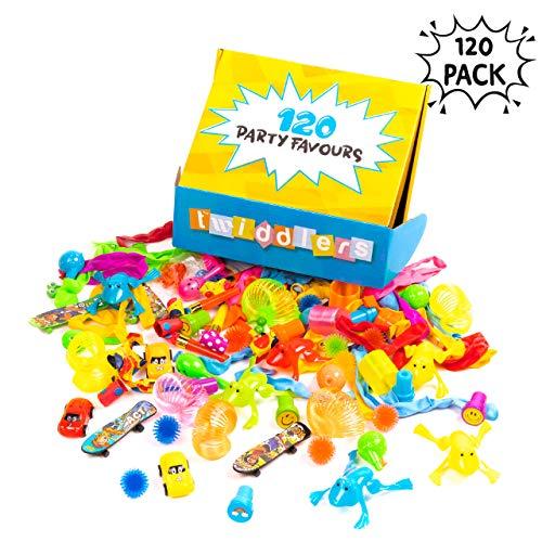 120 Massenartikel Spielzeug - Riesiges Sortiment - Perfekt für Partygeschenke Mitgebsel - Piñatas - Partytaschenfüller, kindergeburtstag gastgeschenke, give aways kinder kleine geschenke
