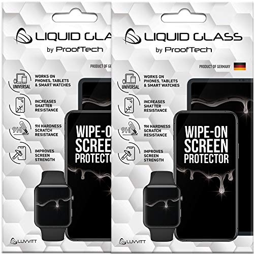 2 Pack Liquid Glass Screen Protector for All Smartphones Tablets and Watches - Universal Fit