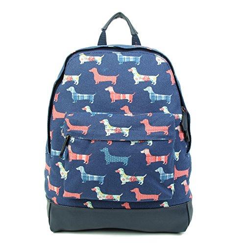 New Childrens Designer Style Dachshund Sausage Dog Print Rucksack Back Pack School Bag