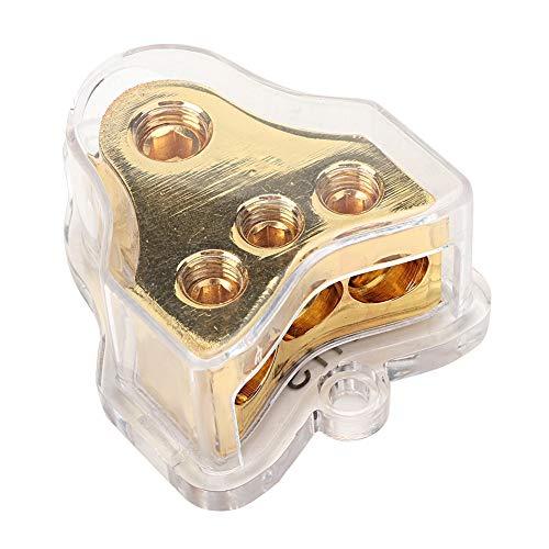 FAMKIT 1 Unidad de Distribución de Fuente de Alimentación de Audio para Coche 1 * 0(4) GA In 3 * 4GA Out Block Splitter/Aleación Plástico