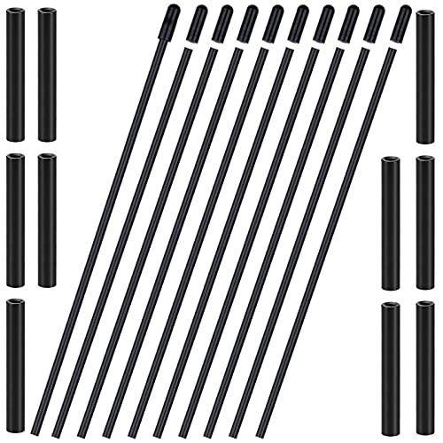 GTIWUNG 30Pcs Plástico Protección Tubo Antena con Tapas, Tubo de Antena de Protección de Plástico con Tapas