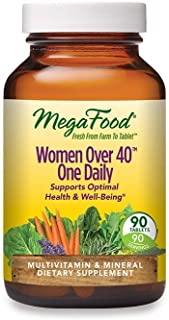 MegaFood, Women Over 40 One Daily, Daily Multivitamin and Mineral Dietary Supplement with Vitamins C, D, Folate, Biotin an...