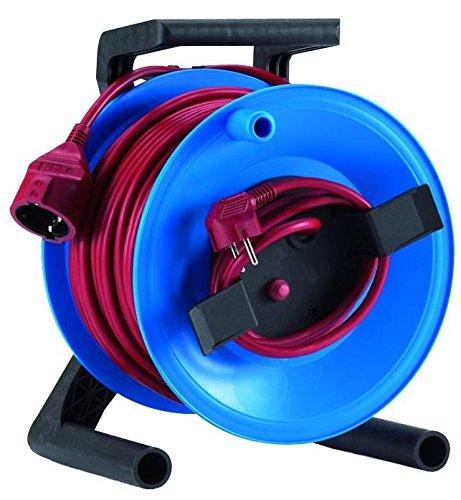 HEDI G0Y25PT01 StarLite - Carrete alargador de cable (plástico, 25 m, para uso en interiores)