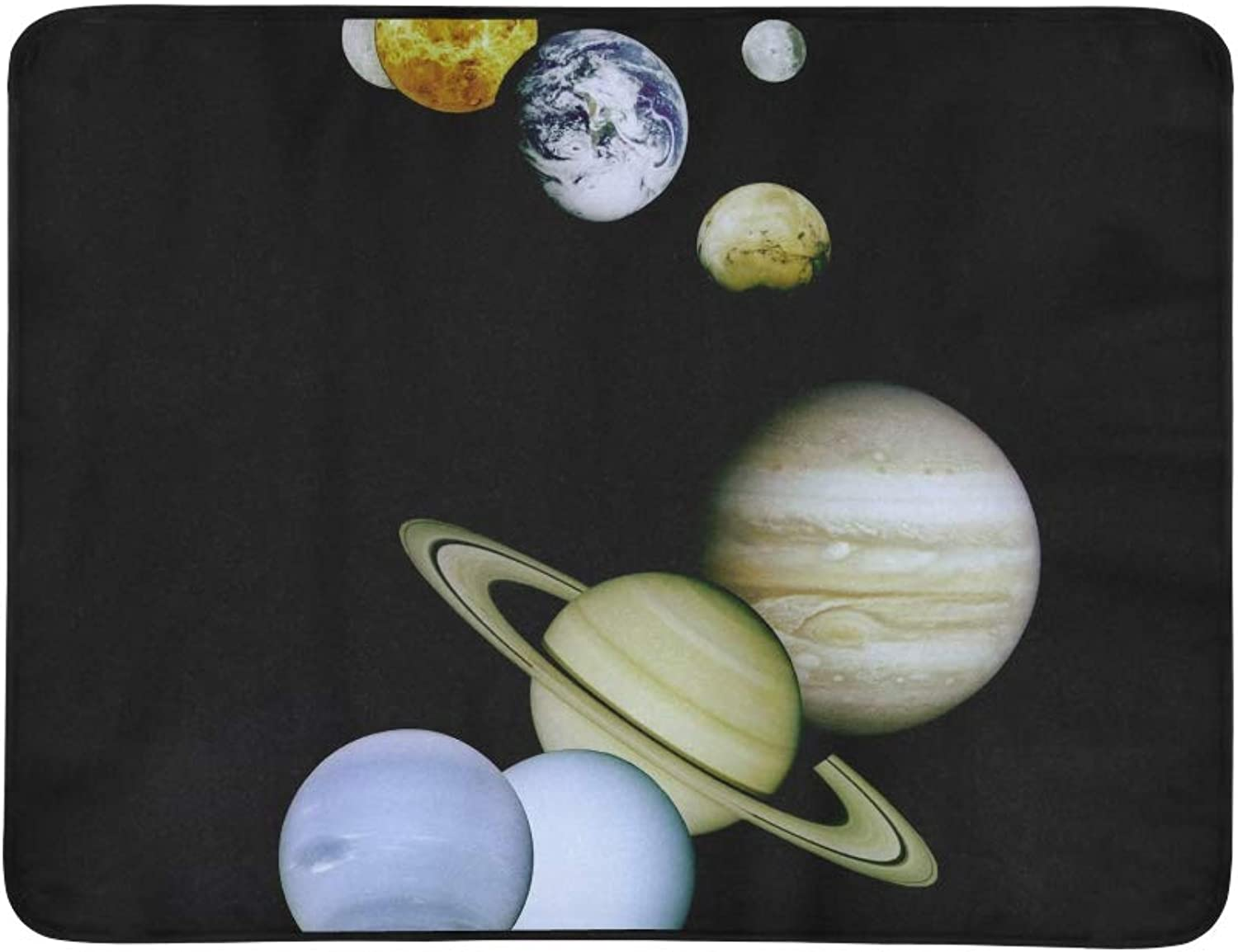 A Montage of All The Planets O Pattern Portable and Foldable Blanket Mat 60x78 Inch Handy Mat for Camping Picnic Beach Indoor Outdoor Travel