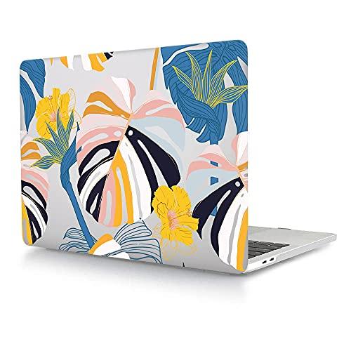 ACJYX Funda compatible con MacBook Pro de 13 pulgadas A1278 con CD-ROM de lanzamiento a principios de 2012/2011/2010/2009/2008, carcasa rígida de plástico para portátil – Palm Leaf
