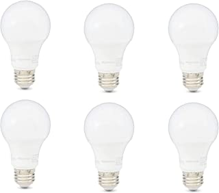 AmazonBasics 40W Equivalent, Daylight, Non-Dimmable, 10,000 Hour Lifetime, A19 LED Light Bulb   6-Pack